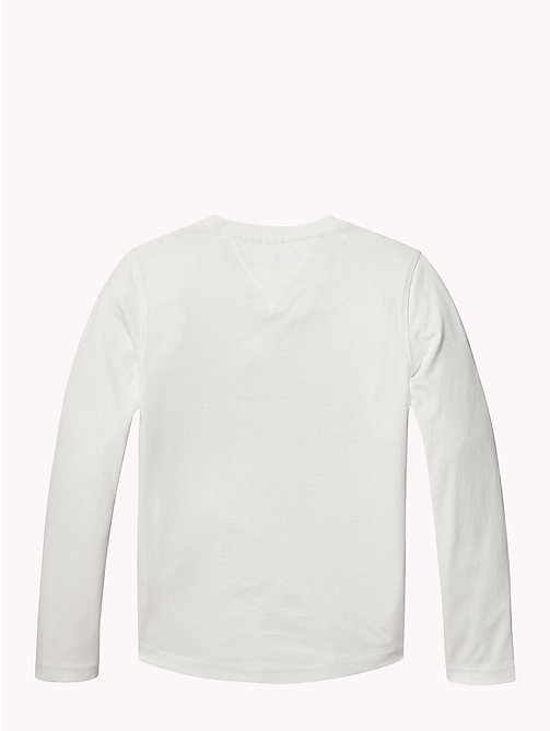 TOMMY HILFIGER Organic Cotton 3D Logo Top - BRIGHT WHITE - TOMMY HILFIGER T-shirts & Polos - detail image 1