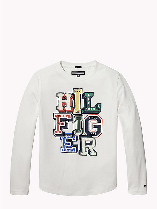 TOMMY HILFIGER Organic Cotton 3D Logo Top - BRIGHT WHITE - TOMMY HILFIGER T-shirts & Polos - main image