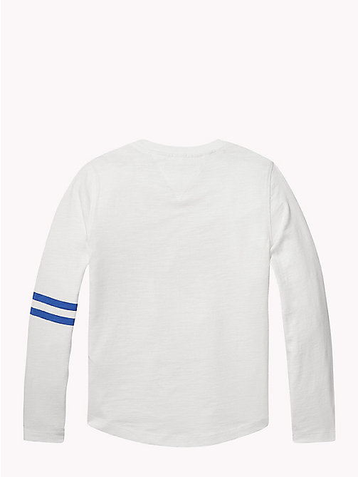 TOMMY HILFIGER Photo Print Long Sleeve T-Shirt - BRIGHT WHITE - TOMMY HILFIGER T-shirts & Polos - detail image 1