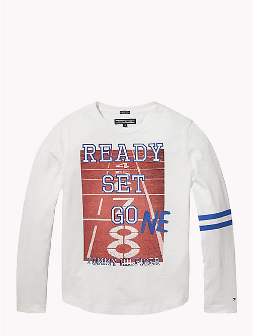 TOMMY HILFIGER T-shirt à manches longues et imprimé photo - BRIGHT WHITE - TOMMY HILFIGER T-shirts & Polos - image principale