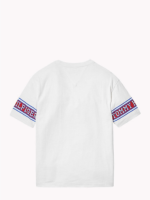 TOMMY HILFIGER Varsity Sleeves T-Shirt - BRIGHT WHITE - TOMMY HILFIGER T-shirts & Polos - detail image 1