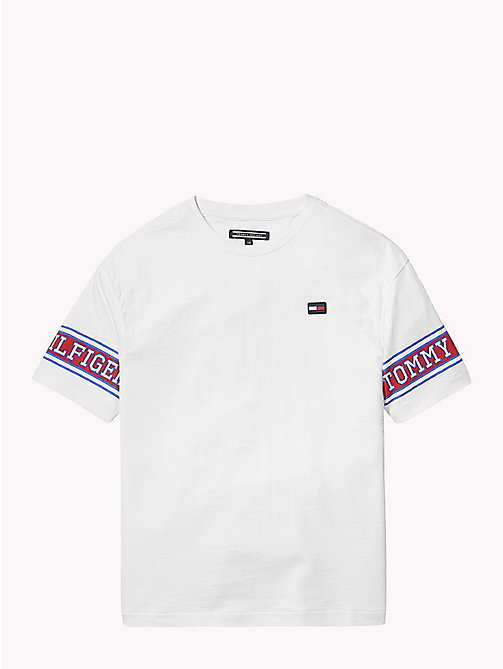TOMMY HILFIGER Varsity Sleeves T-Shirt - BRIGHT WHITE - TOMMY HILFIGER T-shirts & Polos - main image