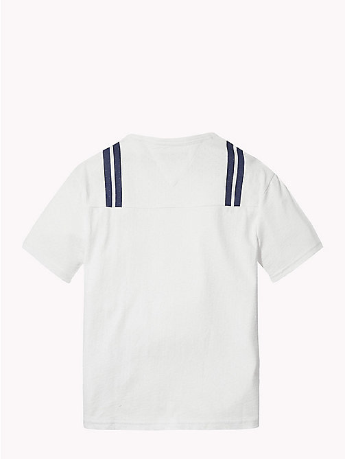 TOMMY HILFIGER Logo Cotton Mesh T-Shirt - BRIGHT WHITE / MULTI - TOMMY HILFIGER T-shirts & Polos - detail image 1