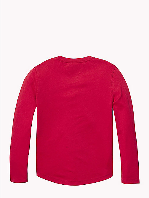 TOMMY HILFIGER Sports Logo T-Shirt - APPLE RED - TOMMY HILFIGER T-shirts & Polos - detail image 1
