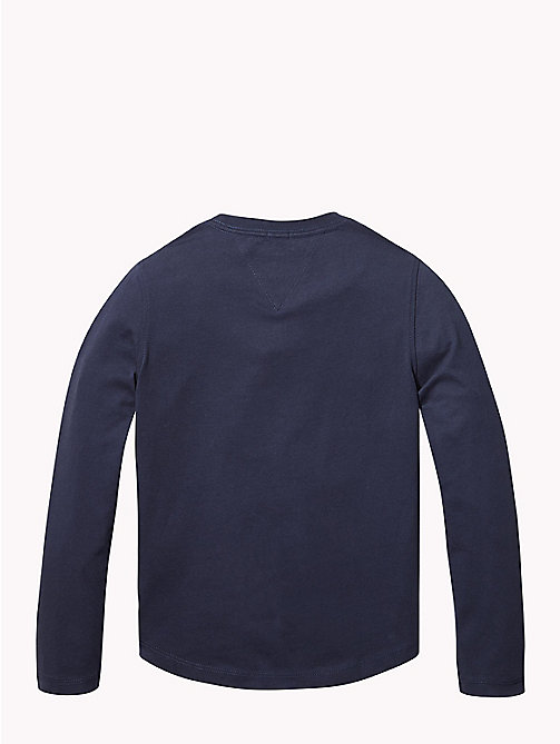 TOMMY HILFIGER Organic Cotton Long Sleeve T-Shirt - BLACK IRIS - TOMMY HILFIGER T-shirts & Polos - detail image 1