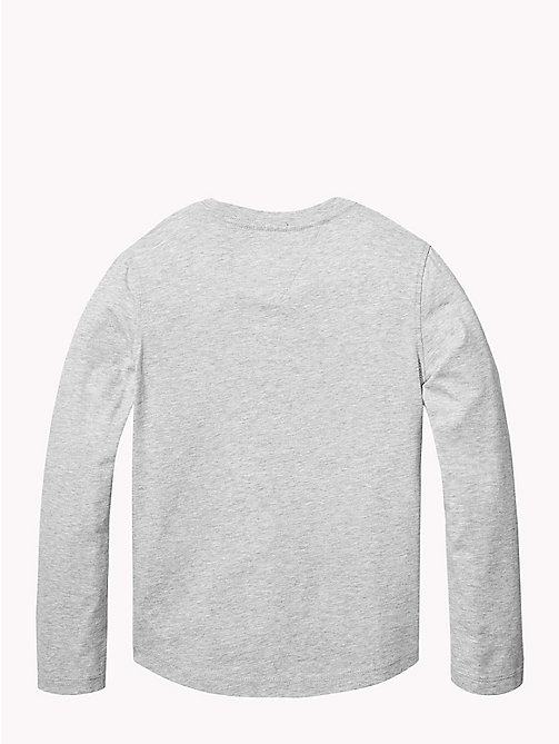 TOMMY HILFIGER Organic Cotton Long Sleeve T-Shirt - GREY HEATHER - TOMMY HILFIGER T-shirts & Polos - detail image 1
