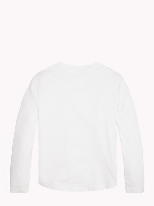 TOMMY HILFIGER Organic Cotton Logo T-Shirt - BRIGHT WHITE - TOMMY HILFIGER T-shirts & Polos - detail image 1
