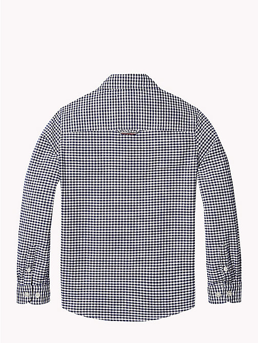 TOMMY HILFIGER Gingham Oxford Shirt - BRIGHT WHITE / BLACK IRIS - TOMMY HILFIGER Boys - detail image 1