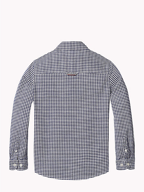 TOMMY HILFIGER Gingham Oxford Shirt - BRIGHT WHITE/BLACK IRIS - TOMMY HILFIGER Boys - detail image 1