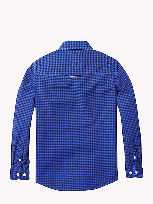 TOMMY HILFIGER Gingham Oxford Shirt - OLYMPIAN BLUE/BLACK IRIS - TOMMY HILFIGER Boys - detail image 1