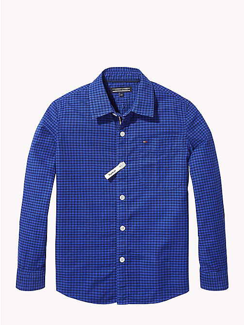 TOMMY HILFIGER Gingham Oxford Shirt - OLYMPIAN BLUE/BLACK IRIS - TOMMY HILFIGER Boys - main image