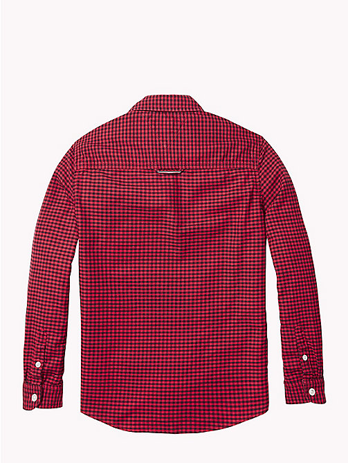 TOMMY HILFIGER Gingham Oxford Shirt - APPLE RED/BLACK IRIS - TOMMY HILFIGER Boys - detail image 1