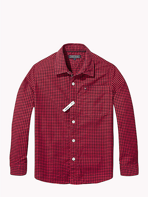 TOMMY HILFIGER Gingham Oxford Shirt - APPLE RED/BLACK IRIS - TOMMY HILFIGER Shirts - main image