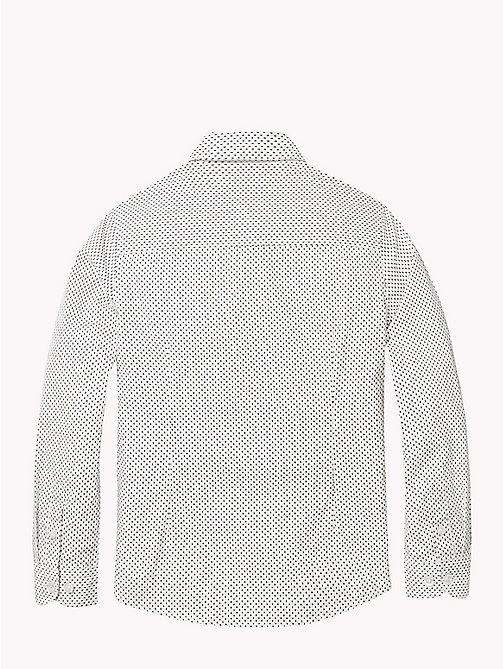 TOMMY HILFIGER Print Cotton Poplin Shirt - BRIGHT WHITE MULTI - TOMMY HILFIGER Shirts - detail image 1