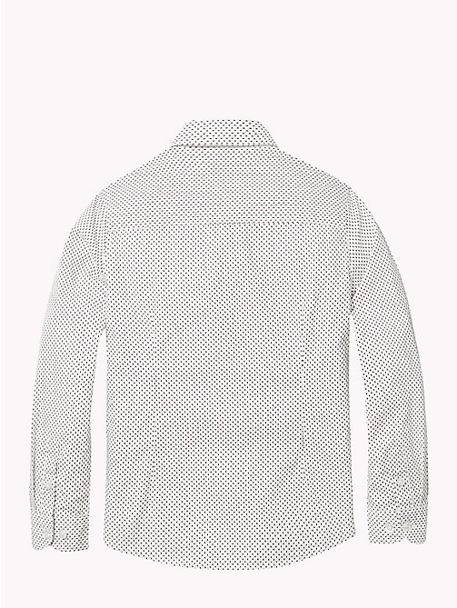 TOMMY HILFIGER Print Cotton Poplin Shirt - BRIGHT WHITE / MULTI - TOMMY HILFIGER Shirts - detail image 1
