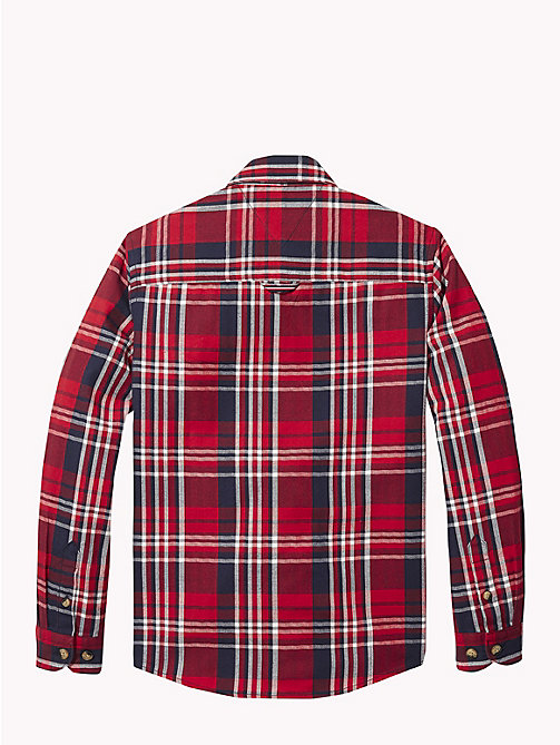 TOMMY HILFIGER Herringbone Check Shirt - APPLE RED/MULTI - TOMMY HILFIGER Boys - detail image 1