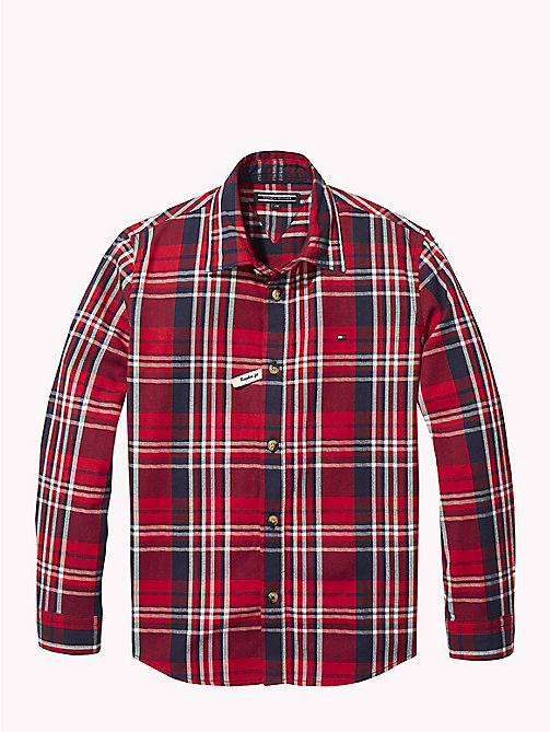 TOMMY HILFIGER Herringbone Check Shirt - APPLE RED/MULTI - TOMMY HILFIGER Shirts - main image