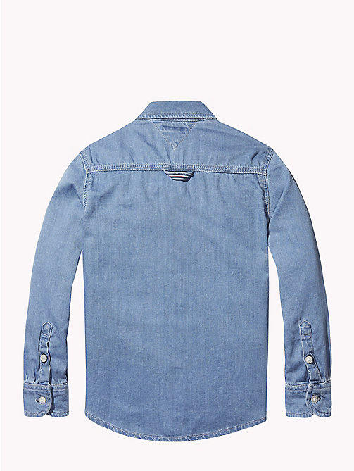 TOMMY HILFIGER Signature Denim Shirt - REDDING LIGHT - TOMMY HILFIGER Boys - detail image 1