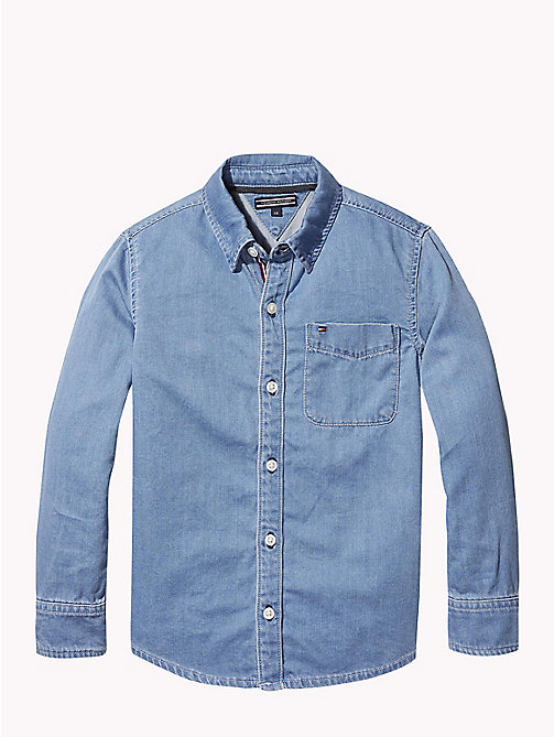 TOMMY HILFIGER Chemise emblématique en denim - REDDING LIGHT - TOMMY HILFIGER Chemises - image principale