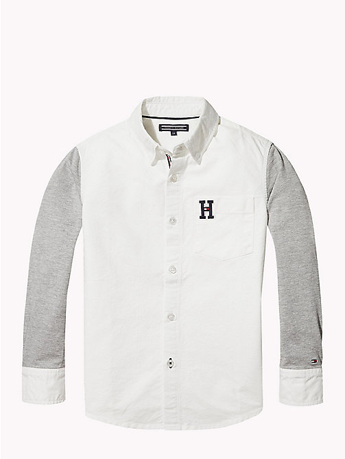 TOMMY HILFIGER Oxford Varsity Shirt - BRIGHT WHITE - TOMMY HILFIGER Boys - main image