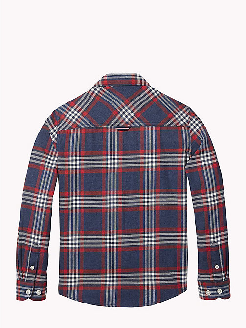 TOMMY HILFIGER Multi-Colour Check Shirt - BLACK IRIS / MULTI - TOMMY HILFIGER Boys - detail image 1