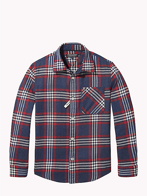 TOMMY HILFIGER Multi-Colour Check Shirt - BLACK IRIS / MULTI - TOMMY HILFIGER Boys - main image