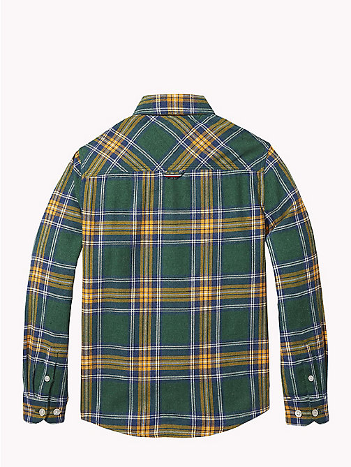 TOMMY HILFIGER Multi-Colour Check Shirt - HUNTER GREEN / MULTI - TOMMY HILFIGER Boys - detail image 1