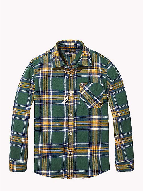TOMMY HILFIGER Multi-Colour Check Shirt - HUNTER GREEN / MULTI - TOMMY HILFIGER Boys - main image
