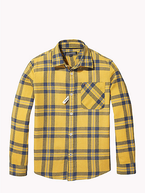 TOMMY HILFIGER Multi-Colour Check Shirt - SPECTRA YELLOW / MULTI - TOMMY HILFIGER Boys - main image