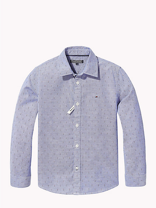TOMMY HILFIGER Print Oxford Shirt - OLYMPIAN BLUE/MULTI - TOMMY HILFIGER Boys - main image