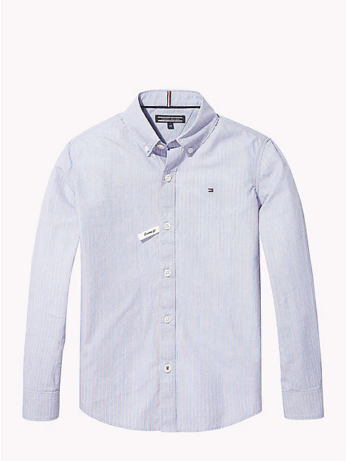 TOMMY HILFIGER Stripe Cotton Shirt - SHIRT BLUE / MULTI - TOMMY HILFIGER Boys - main image