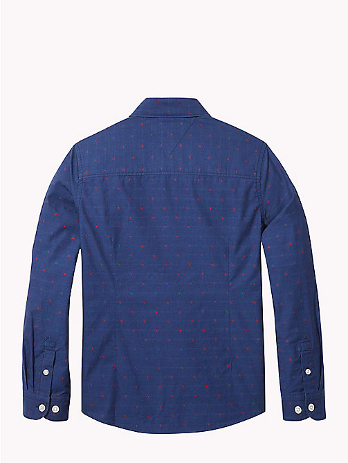 TOMMY HILFIGER Spot Dobby Cotton Shirt - BLACK IRIS - TOMMY HILFIGER Boys - detail image 1