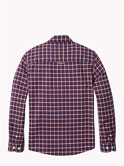 TOMMY HILFIGER Oxford Check Shirt - APPLE RED/MULTI - TOMMY HILFIGER Boys - detail image 1