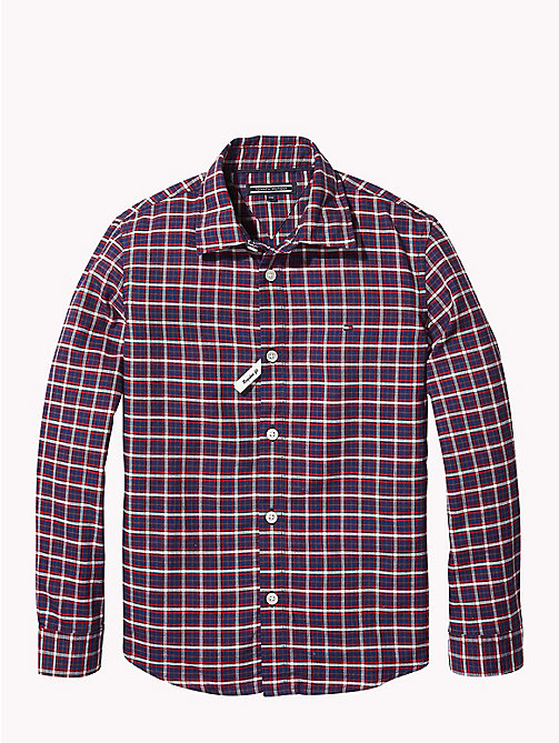 TOMMY HILFIGER Oxford Check Shirt - APPLE RED/MULTI - TOMMY HILFIGER Boys - main image