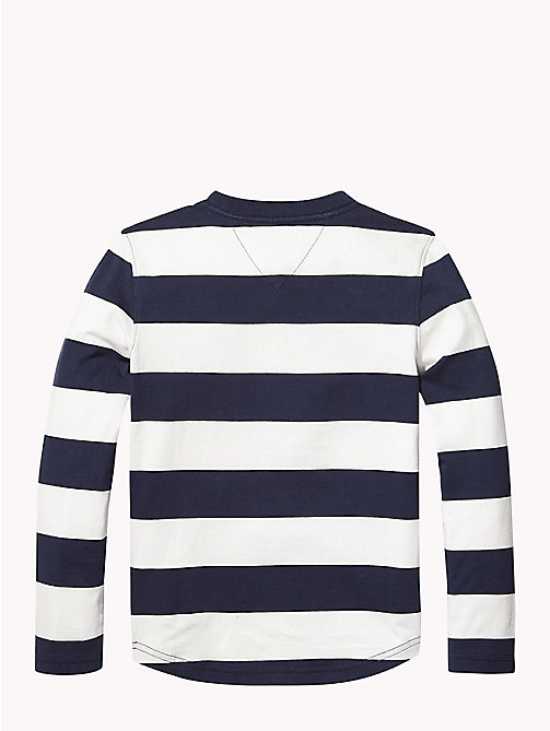 TOMMY HILFIGER Pull monogramme à rayures rugby - BLACK IRIS / BRIGHT WHITE - TOMMY HILFIGER T-shirts & Polos - image détaillée 1