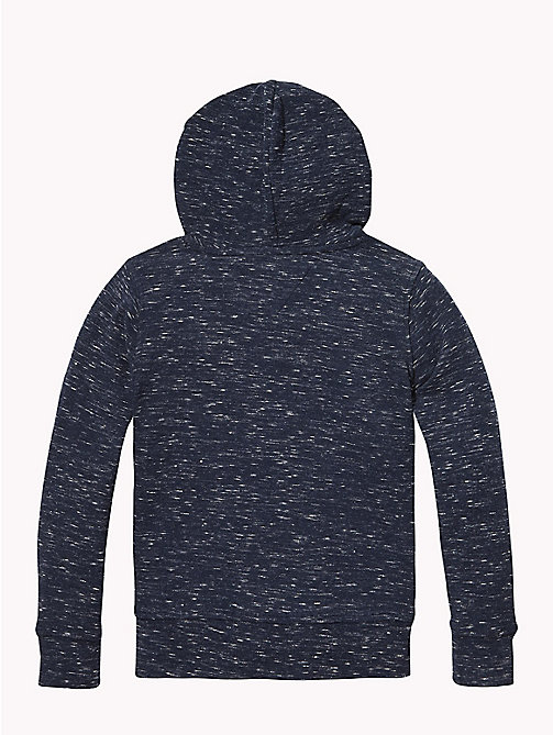 TOMMY HILFIGER ESSENTIAL MINI WAFFLE HOODED L/S - BLACK IRIS - TOMMY HILFIGER Мальчики - подробное изображение 1