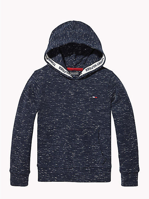 TOMMY HILFIGER ESSENTIAL MINI WAFFLE HOODED L/S - BLACK IRIS - TOMMY HILFIGER Мальчики - главное изображение
