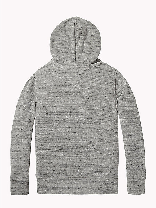 TOMMY HILFIGER Hoodie met mini-wafeltextuur - MID GREY HEATHER - TOMMY HILFIGER Sweatshirts & Hoodies - detail image 1