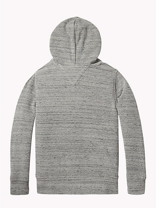 TOMMY HILFIGER Mini Waffle Texture Hoody - MID GREY HEATHER - TOMMY HILFIGER Sweatshirts & Hoodies - detail image 1