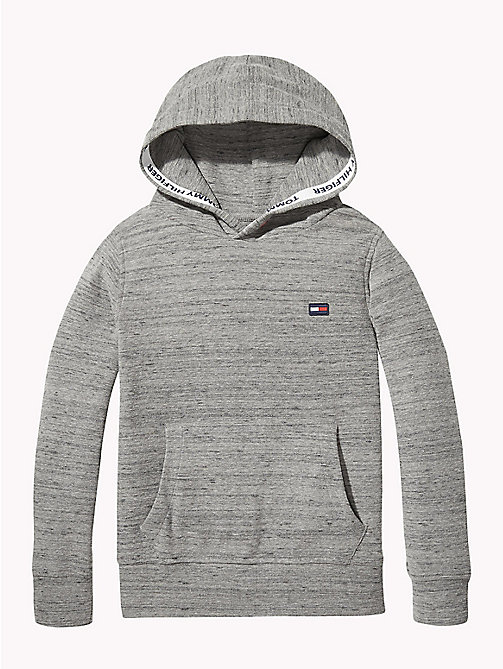 TOMMY HILFIGER Hoodie met mini-wafeltextuur - MID GREY HEATHER - TOMMY HILFIGER Jongens - main image