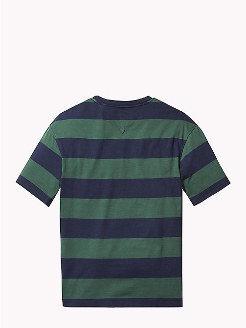 TOMMY HILFIGER Logo Rugby Stripe T-Shirt - BLACK IRIS/HUNTER GREEN - TOMMY HILFIGER T-shirts & Polos - detail image 1
