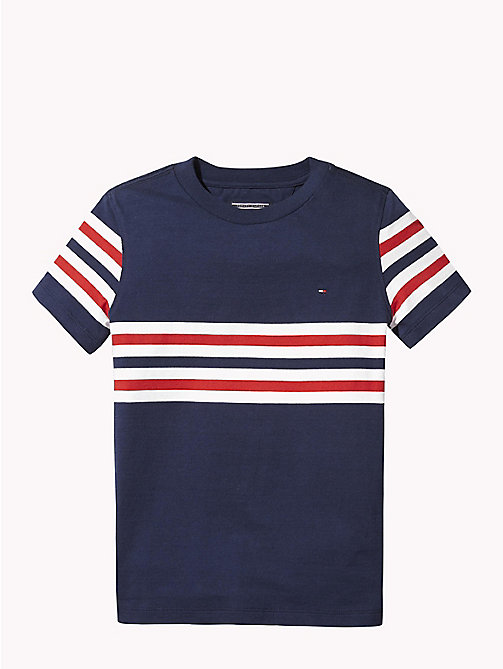 TOMMY HILFIGER T-shirt a righe - BLACK IRIS - TOMMY HILFIGER T-shirts & Polo - immagine principale
