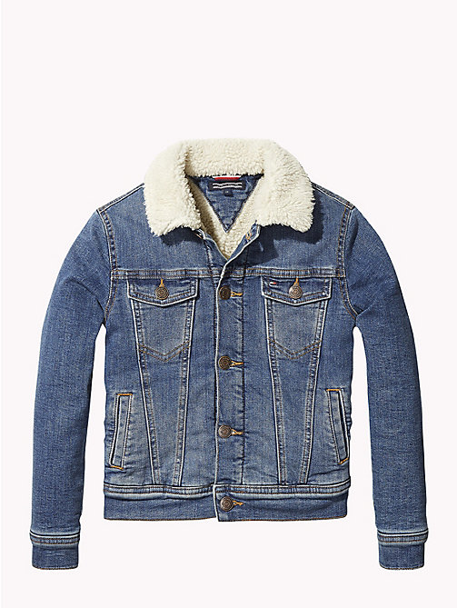 TOMMY HILFIGER Fleece Collar Denim Jacket - AUTHENTIC DUSTY SHERPA STRETCH - TOMMY HILFIGER Coats & Jackets - detail image 1