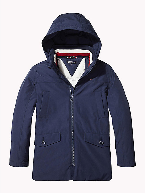 TOMMY HILFIGER Padded Hooded Parka - BLACK IRIS - TOMMY HILFIGER Boys - main image
