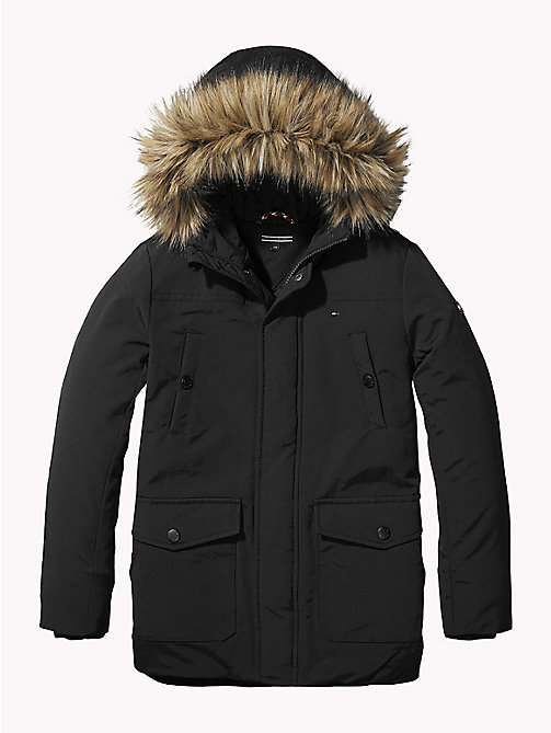 TOMMY HILFIGER Detachable Trim Arctic Parka - TOMMY BLACK - TOMMY HILFIGER Boys - main image