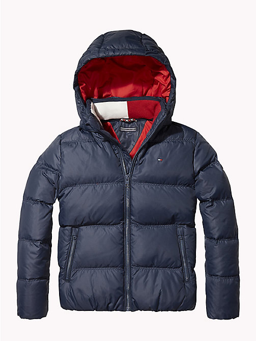 TOMMY HILFIGER Recycled Material Padded Down Jacket - BLACK IRIS - TOMMY HILFIGER Boys - main image