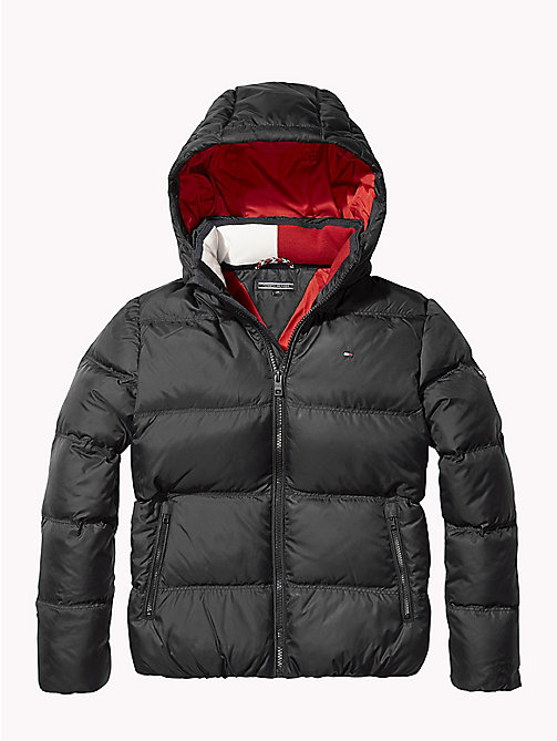 TOMMY HILFIGER Recycled Material Padded Down Jacket - TOMMY BLACK - TOMMY HILFIGER Boys - main image