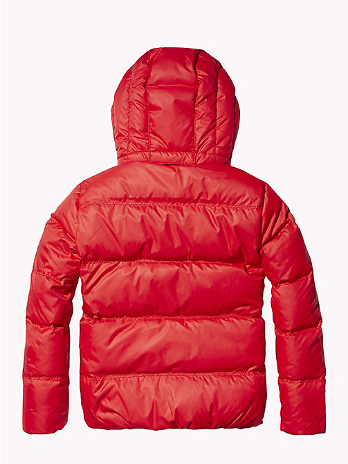 TOMMY HILFIGER Recycled Material Padded Down Jacket - APPLE RED - TOMMY HILFIGER Boys - detail image 1