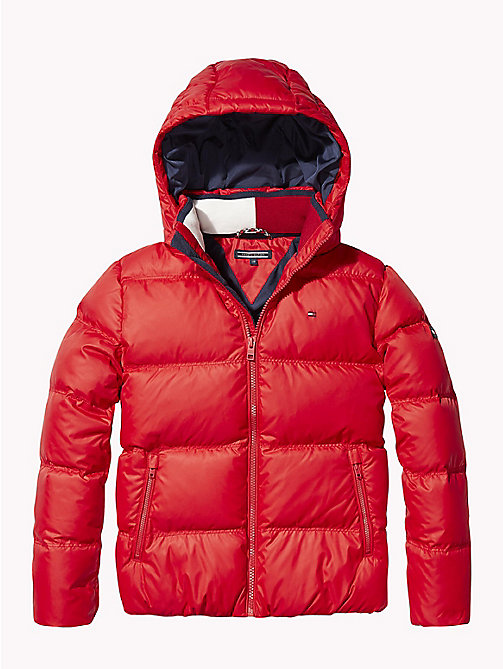 TOMMY HILFIGER Recycled Material Padded Down Jacket - APPLE RED - TOMMY HILFIGER Boys - main image