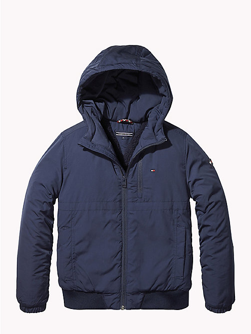 TOMMY HILFIGER Padded Hooded Jacket - BLACK IRIS - TOMMY HILFIGER Boys - main image